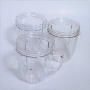 3 NutriBullet NBR-0601 600W 18 oz replacement cups